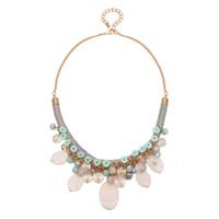 Colorful Gem Crystal Mosaic Flower Collar llamativo Gargantilla de moda Collares Accesorios Femeninos Mujeres Regalo de la joyería Ventas calientes Nueva llegada