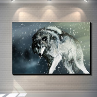 Vintage Abstract Animal WOLF creative posters painting pictu...