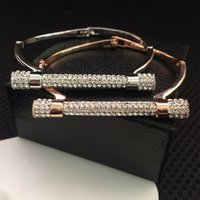 2017 new Luxury Crystal Horseshoe Cuff Bracelet Rhinestone B...