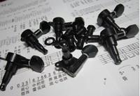 6 قطعة / المجموعة أسود الملحقات الغيتار ل سلاسل الغيتار الكهربائي زر ضبط أوتاد مفاتيح موالف رؤساء آلة أجزاء الغيتار