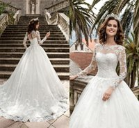 Pura larga manga de encaje corsé trasero vintage vestidos nupciales nueva reina vestios de novia a-line vestidos de novia estilo de boda estilo rural