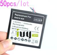 50 pçs / lote 2500 mAh B0PFH100 Bateria de Substituição Para HTC desejo olho M910X M910n Baterias Batterij ...