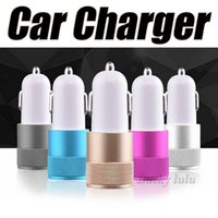Hot Vente Best Metal Double USB Port Car Chargers Adaptateur de charge universel pour Apple iPhone iPad iPod Samsung Galaxy Motorola android