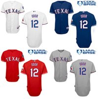 Mens Texas Rangers Baseball #12 Rougned Odor Home Road Alter...