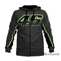 Wholesale- New Grey 46 Clothing Cotton Rossi VR46 zipper Hoo...