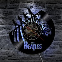 The Beatles Rock Band Led Vinyl Clock Wall Light Color Chang...
