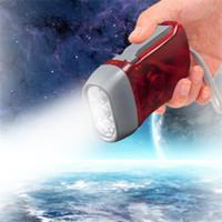 3LED ручной пресс аварийные факелы свет фонарик энергосберегающие нет батареи Динамо вспышка света для кемпинга Туризм Путешествия Спорт на открытом воздухе