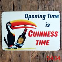 유럽 20 * 30cm 금속 주석 기호 맥주 내 기네스 레트로 빈티지 클래식 깡통 술집 홈 벽 장식 레트로 주석 포스터