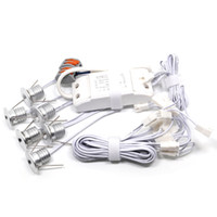 6pcs / lot LED enterré lumière IP52 intérieur Mini Dimmable LED Downlight LED Puck Light 1WX6pcs LED éclairage taille du trou 15