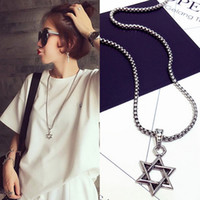 Vintage six - point star men and women pendant necklace love...