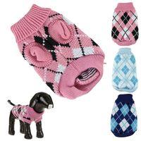 ПЭТ давно новых квалифицированных Pet свитер для осень зима теплая вязание крючком одежда для собак чихуахуа dachsh dig6415