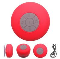 BTS-06 Водонепроницаемый Bluetooth Мини-динамик с присосом Портативные беспроводные полномочильные для вызова Водостойкий музыкальный проигрыватель
