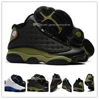 Cheap New 13 Gato Preto OG Shoes Men Basquete Masculino as sapatas das mulheres 13s tamanho Black Cat Atletismo Sneakers alta qualidade dos EUA 8-13