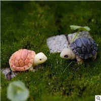 Miniature resina tartaruga micro paesaggio muschio bottiglia succulente piante vaso decorazione ecologica puntelli fai da te materiali artigianali in resina