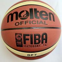 الشحن مجانا المنصهر كرة السلة GF7، SIZE7 كرة السلة، كرة السلة الرسمية، 1pcs / lot الحرة مع مضخة الكرة + صافي حقيبة + 2PCS دبابيس