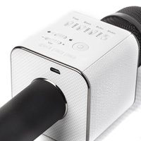 Bingsentec marke q9 magic bluetooth karaoke mikrofon wireless professional player lautsprecher mit tragetasche für iphone android