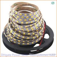 슈퍼 밝은 5m 2835 SMD 120led / m 600Leds 화이트 따뜻한 화이트 유연한 LED 스트립 12V 비 방수보다 3528 스트립보다 밝게