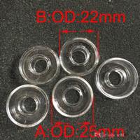 Plat de rechange de quartz pour le diamètre extérieur hybride de titane 25mm ou 22mm pour les clous à huile titaniques de clous d'huile de bongs