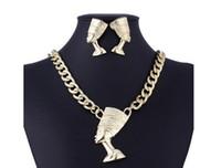 مجموعة المجوهرات الأنثوية المبالغة الكلاسيكية الجديدة رمز الحق في سلسلة الترقوة الكلاسيكية والمجوهرات سبيكة الفرعون المصري