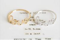 새로운 조수 패션 로맨틱 골드 도금 은색 도금은 골드 반지 도매 판매 고품질의 반지를 사랑한다