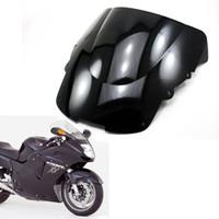 Zwart Double Bubble Windscreen Windshield Shield voor Honda CBR 1100xx 1996-2007