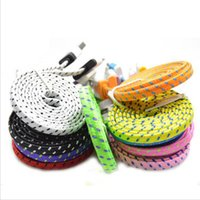 3ft 6ft 10ft USB Cable V8 Fabric Braided Noodle Flat 1M 2M 3...