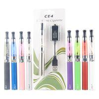 Vaper eGo T CE4 Vape Pen Einzel-Starter Kit Blisterpackung 650 900 1100mAh E Zigarette Vapes Batterie CE4 Atomizer Clearomizer Vaporizer Behälter