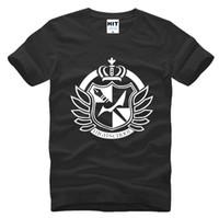 Oyun Danganronpa Dangan Ronpa Monokuma Baskılı Mens Erkekler T Gömlek Tişört Moda 2016 Yeni Pamuk T-shirt Tee Camisetas Hombre
