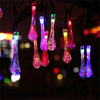 LED Fairy Light 20LED 50LED WaterDrop Solar Powered WaterDro...