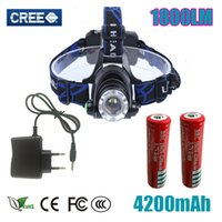 Headlight Headlamp Cree XM- L T6 led 1800LM rechargeable Head...