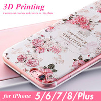 Floral Phone Case for iPhone 8 7 Plus Cases for iPhone 6 6s ...