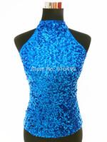 Al por mayor-2015 recién llegado de lentejuelas vestido de baile de las mujeres etapa de baile vestido ojo diseño mujeres etapa latina baile latino borlas vestido de traje