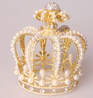 Роскошные отличное качество барокко стили старинные свадебные Корона сплава Люкс тиара барокко Королева короны