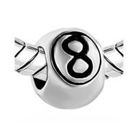 Женская мода ювелирные изделия DIY европейский стиль повезло 8 мяч металлический шарик свободные подвески браслет ожерелье подходит Pandora