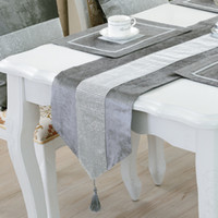 BZ366 Modern Runner Runner Flanella Diamond Table Runners matrimonio Chirstmas Decorazione Viola Golden Runner