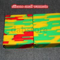 5 stücke Kleine Waxmate Container Silikonkautschuk Silicon Lagerung Quadratische Form Wachs Gläser Tupfen Konzentrat Werkzeug Dabber Öl Halter für Verdampfen