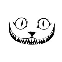 Новый Дизайн Кошка Рычать Улыбка Лицо Хэллоуин Ужас Виниловые Наклейки Окна Украшения Наклейка Jdm
