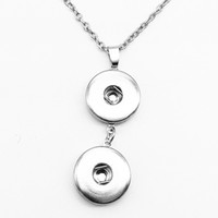 Moda ciondolo gioiello collana con bottone a scatto OEM, ODM NX117 (misura 18mm 20mm scatta) FAI DA TE Party dress gioielli Chiristmas