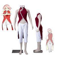 SICAK Satış Anime COS Boruto: Naruto Haruno Sakura Cheongsam Cosplay Kostüm Kıyafet Herhangi Boyut Cadılar Bayramı Ücretsiz Kargo