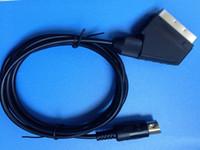 새 도착 RGB Scart 리드 케이블 Sega Mega Drive 2 용 Genesis 2 Megadrive 2 MD2 RGB AV Scart 케이블