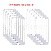 10pcs frontalino con colla a caldo Telaio Medio per iPhone 5s 5c 5G 6 4.7 6 Plus 5.5 pollici bianco nero
