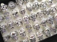 Skull esqueleto motociclista gótico anéis de rocha punk anel festa de festa de festa de top styles atacado fresco lotes de jóias