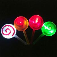 Campana luminosa, lecca-lecca, giocattolo per bambini in flash, campana per la mano del bambino, bacchetta magica, mercato notturno, serie di forniture