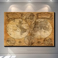 Vintage World Map Pictures Painting Canvas Poster Painting P...