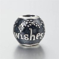 Black silver charms set wishes S925 sterling silver fits for...