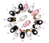 18 Color Baby Emoji INS moccasins soft sole PU leather shoes...