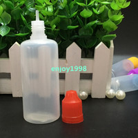 1000pcs Soft Ejuice Empty PE Bottle 60ml Childproof Lids Nee...