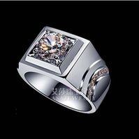 Sona Synthetic Diamond Ring Pure Silver With Platinum Pt950 ...