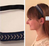 2018 softball hotsale season usa hotsale styles red stitching yellow softball leather headbands