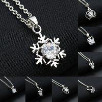 Korean Crystal Pendant Necklace For Womens Fashion Crystal H...